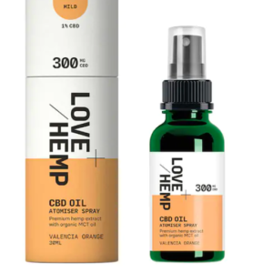 Love Hemp 300mg CBD Spray Valencia Orange 30ml